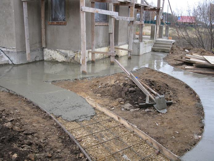 Дорожки залитые бетоном бетоны китая