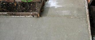 Залив дорожек бетоном марки цементного раствора и их применение