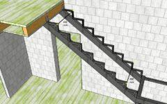 Как крепить лестницу к перекрытию?