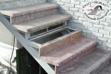 купить ступени для лестницы их бетона