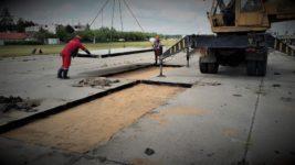 Устройство дорог из дорожных плит