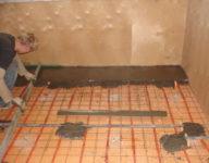 Заливка пола с пеноплексом в квартире