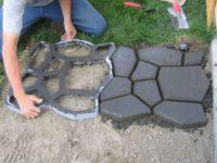 как сделать цементный раствор для заливки дорожек