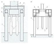 Усиление основания фундамента методом устройства выносных свай