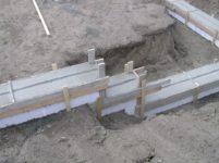 Заливка фундамента на склоне