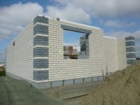 Коммерческое здание из пеноблоков