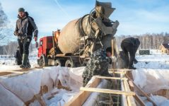Бетонной смеси зимой купить краску для бетона для наружных работ в калуге