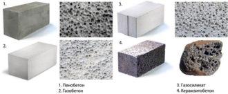 Пеноблок и газосиликатный блок разница