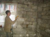 Штукатурка стен из пеноблока внутри помещения